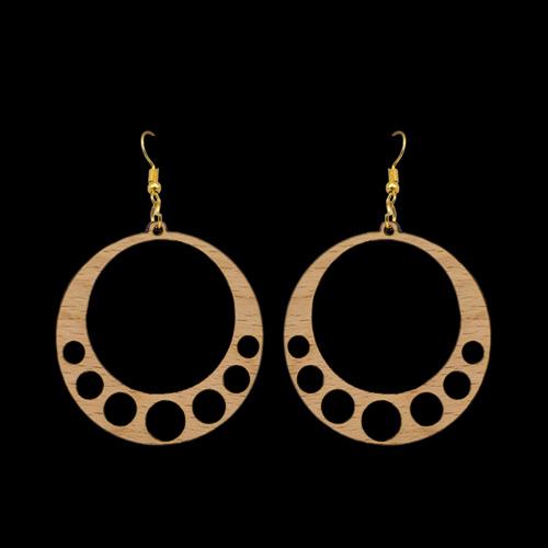 Wooden Earrings 133 for Women's Fashion