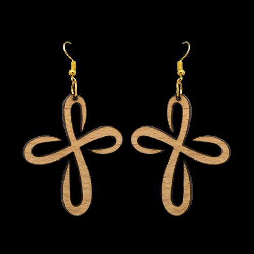 Wooden Earrings 134 for Women's Fashion