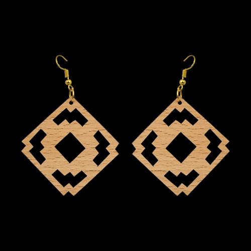 Wooden Earrings 135 for Women's Fashion
