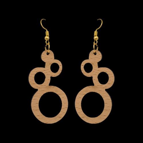 Wooden Earrings 136 for Women's Fashion