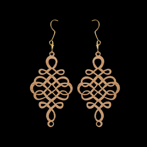 Wooden Earrings 140 for Women's Fashion