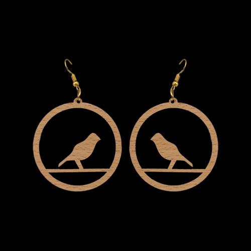 Wooden Earrings 141 for Women's Fashion