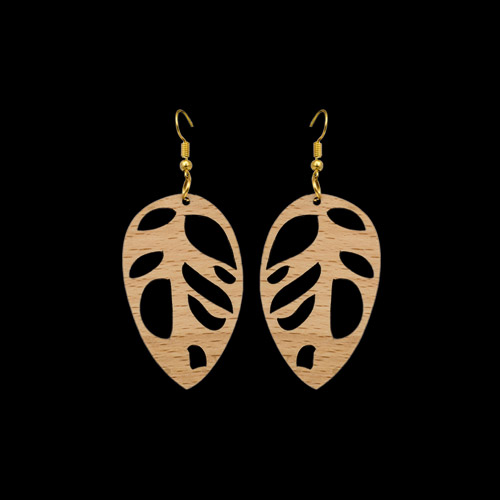 Wooden Earrings 142 for Women's Fashion