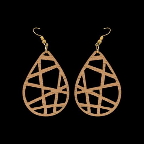 Wooden Earrings 144 for Women's Fashion