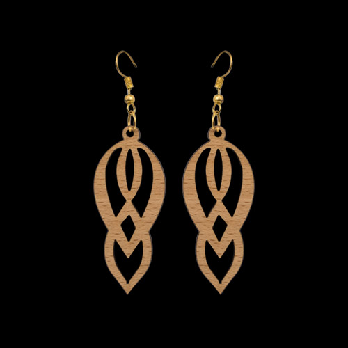 Wooden Earrings 145 for Women's Fashion