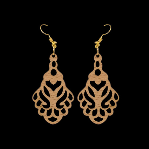 Wooden Earrings 146 for Women's Fashion