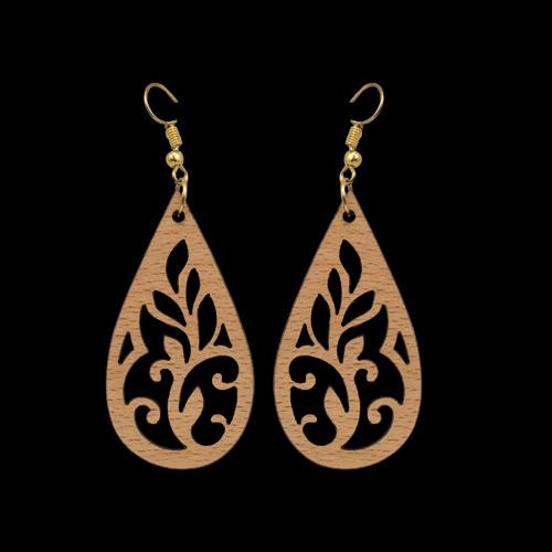 Wooden Earrings 148 for Women's Fashion