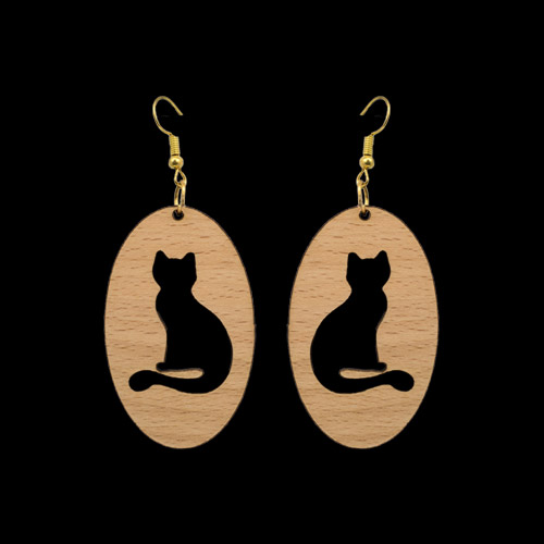 Wooden Earrings 150 for Women's Fashion