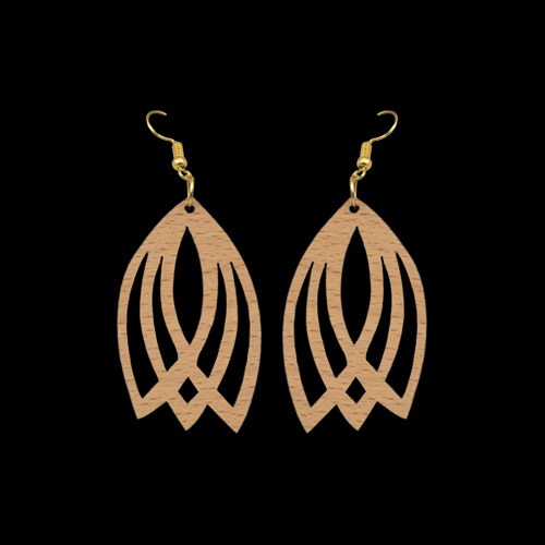 Wooden Earrings 153 for Women's Fashion
