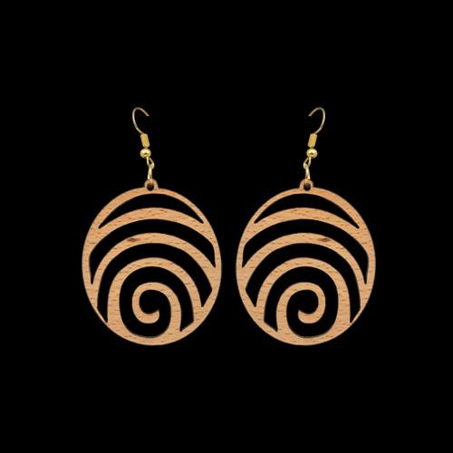 Wooden Earrings 155 for Women's Fashion