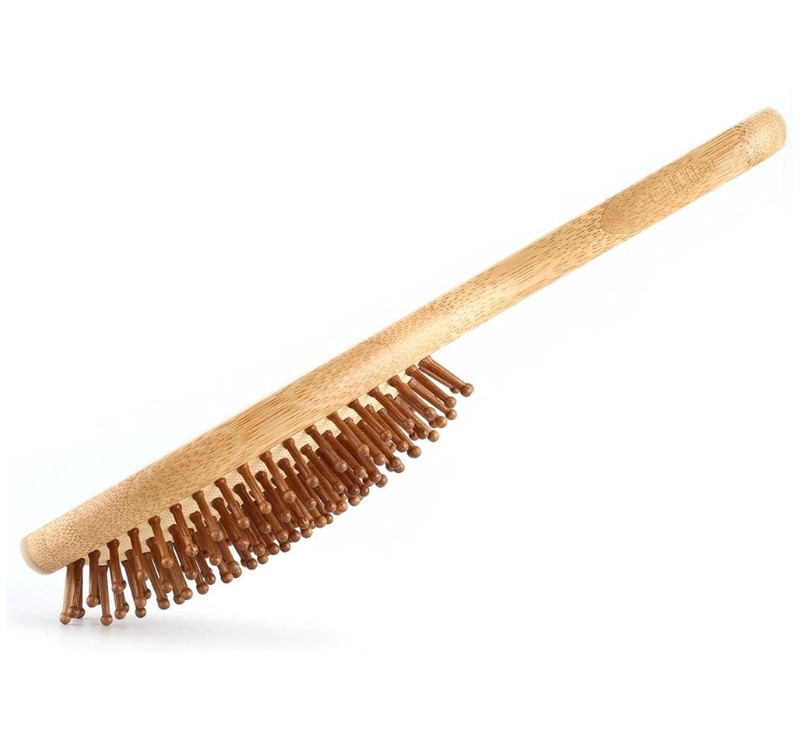 Wooden Bristle Hairbrush Bamboo Hair Brush with Wooden Bristle