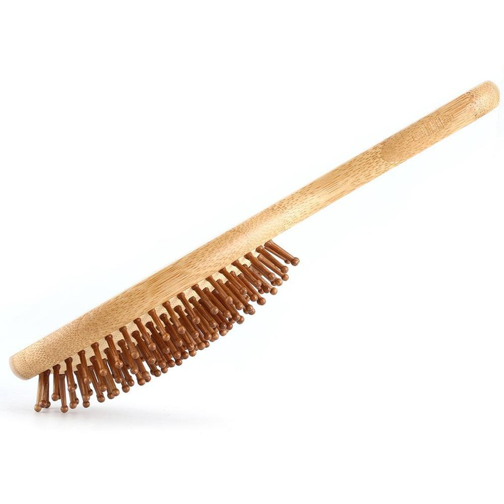 Bamboo Hair Brush with Wooden Bristle
