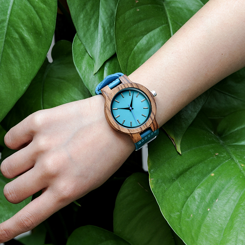 Unisex Zebra Wooden Watch