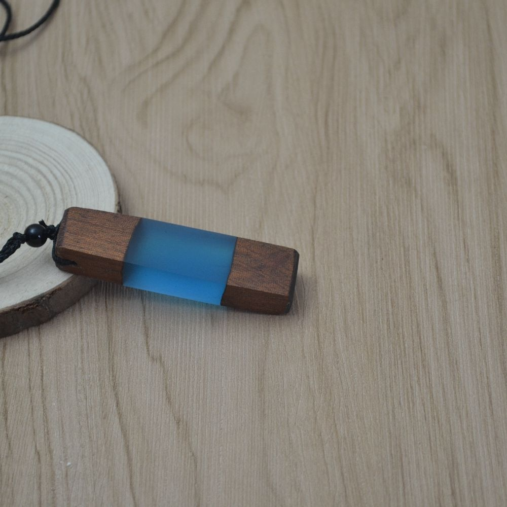 wooden resin necklace pendant
