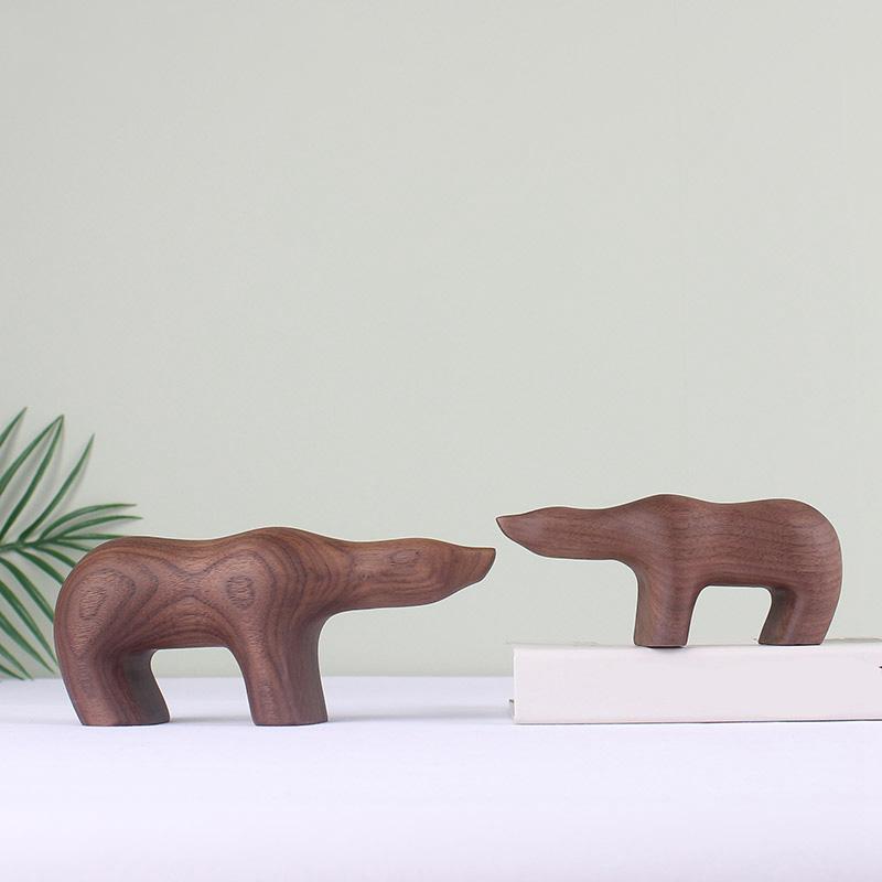 Handmade Wooden Polar Bear