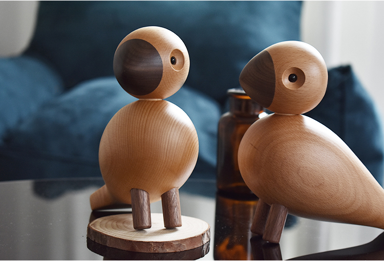 Wood Interior Design Handmade Wooden Song Bird