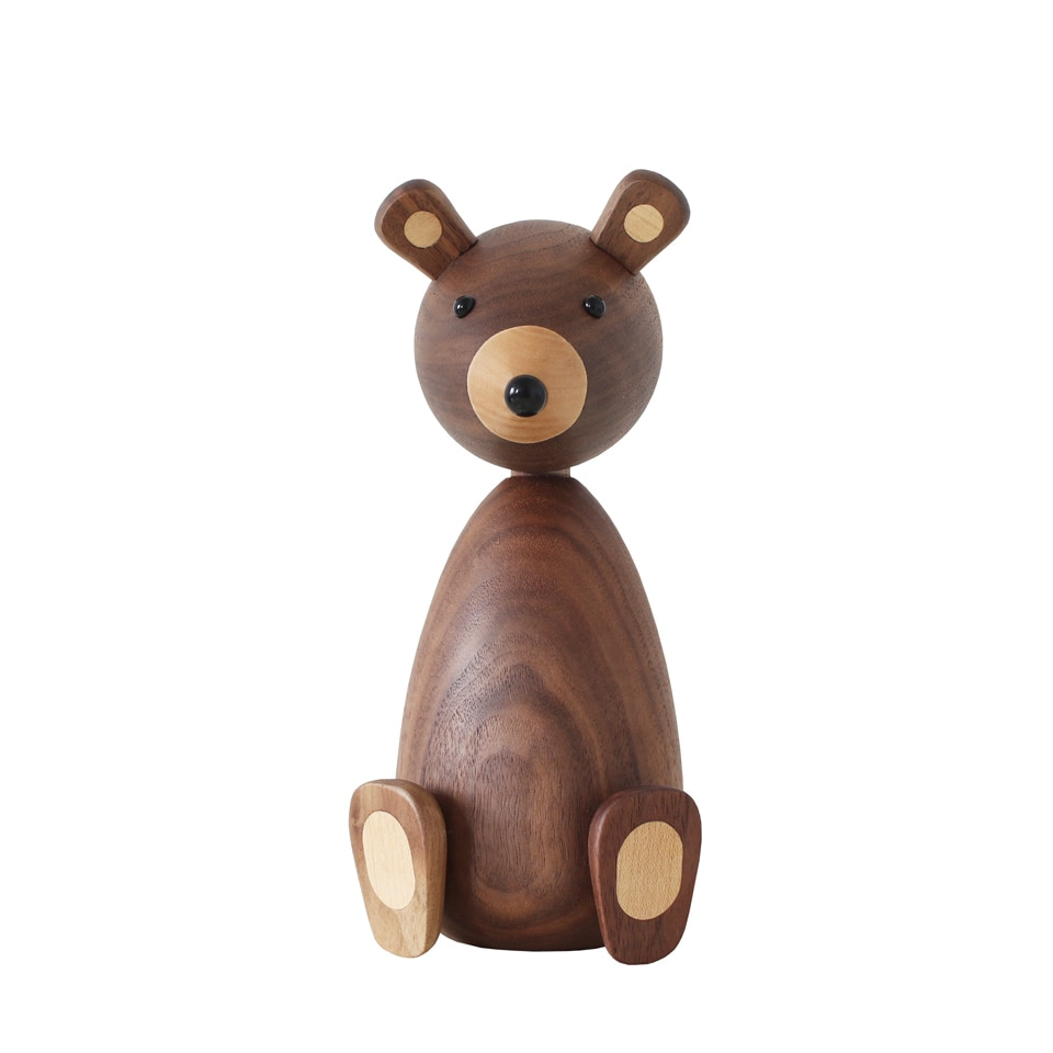 Brown Bear Wood Figurines