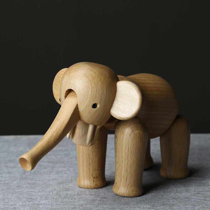 Handmade Wooden Big Elephant Figurines
