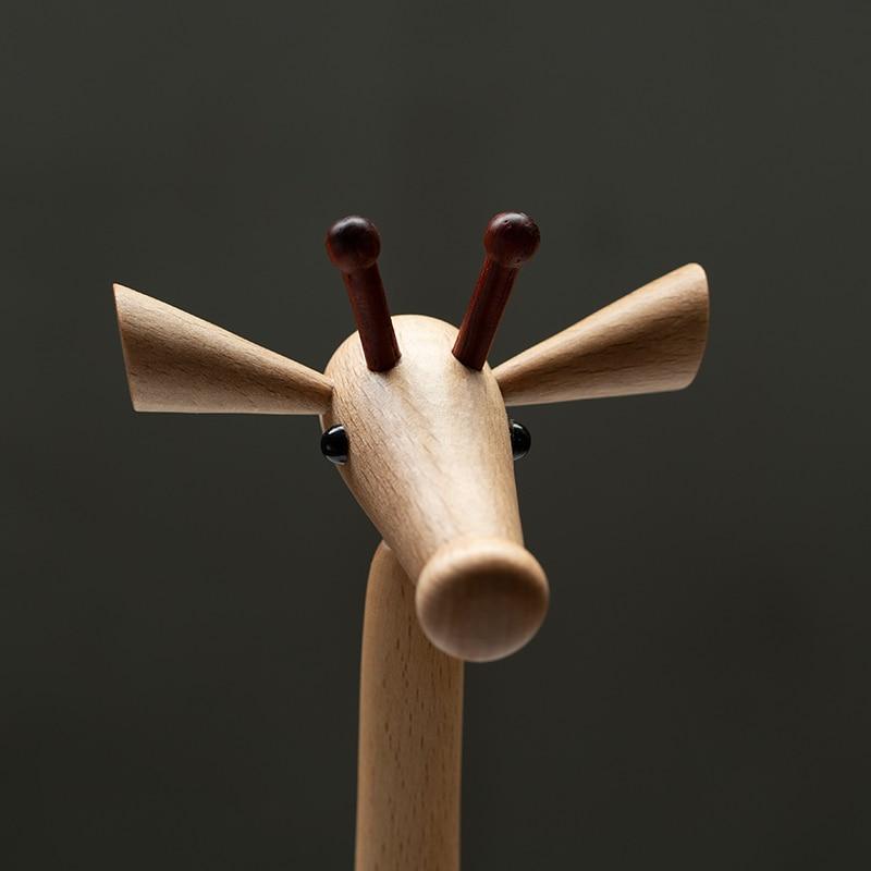 Handmade Wooden Giraffe Figurines