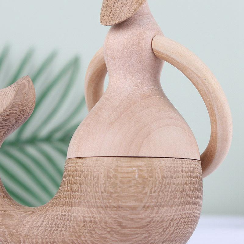 Handmade Wooden Mermaid Figurines