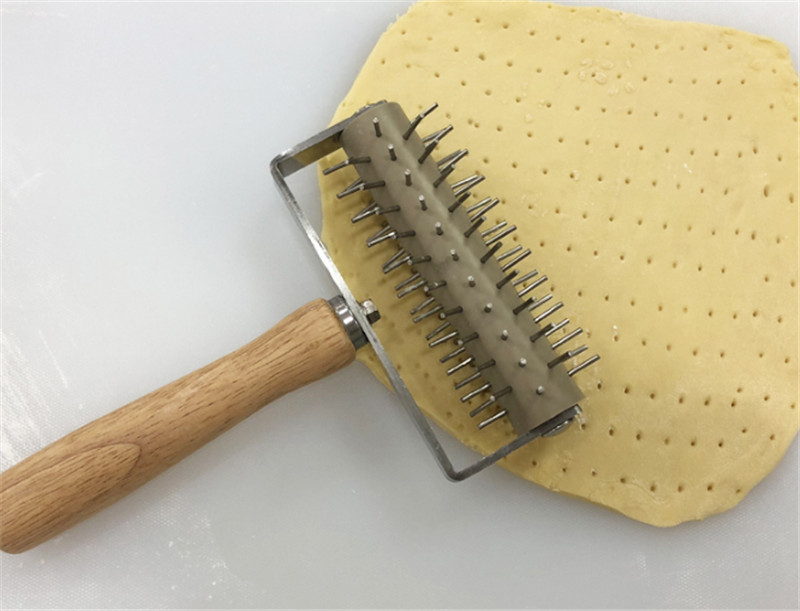 Wooden Handle Dough Pitter