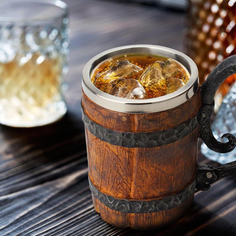 Unique Gift Ideas Crude Wood Mug Beer
