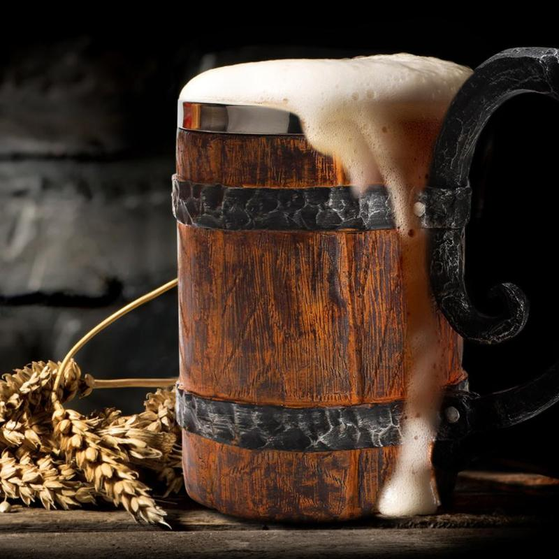 Crude Wood Mug Beer