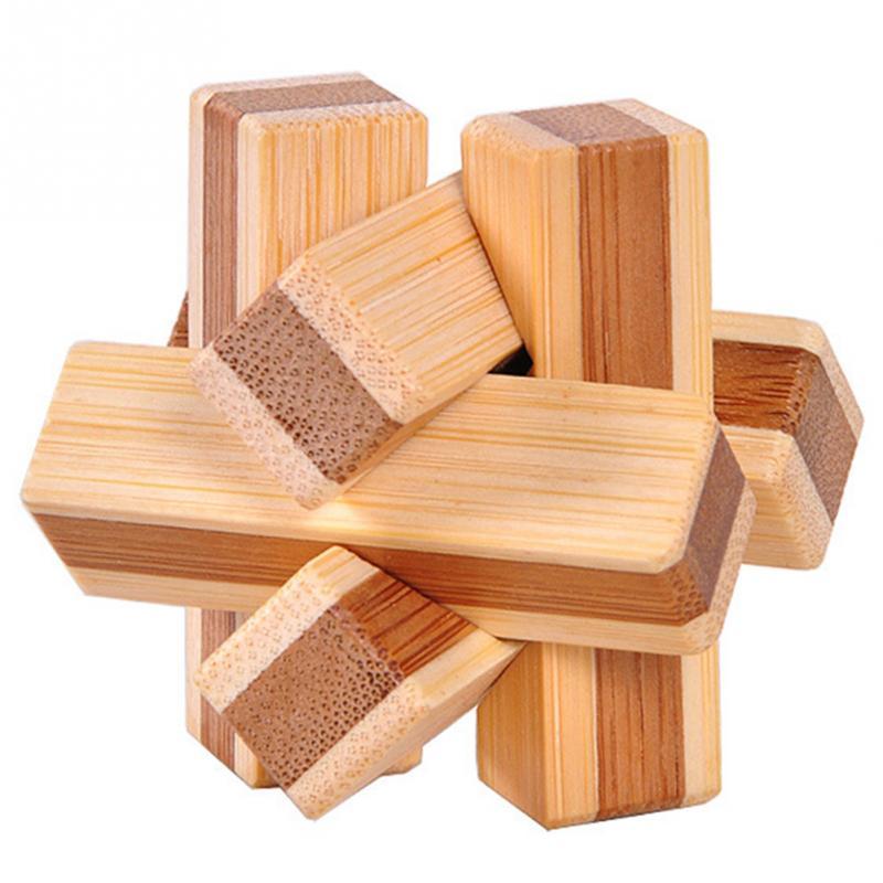 Wooden Interlocking Puzzles Toys