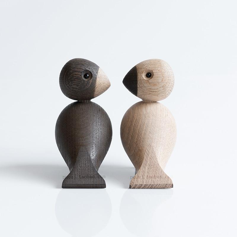 Wooden Figurines Animals Lark Bird