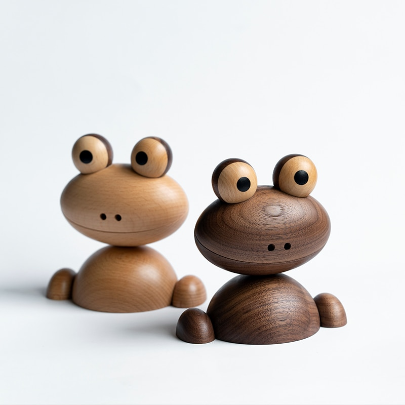 Wooden Animal Figurines Frog