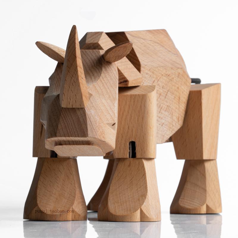 Wooden Rhinoceros