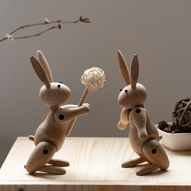 Handmade Wooden Figurine Rabbit