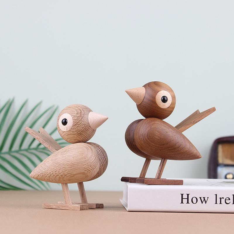Handmade Wooden sparrow Figurines