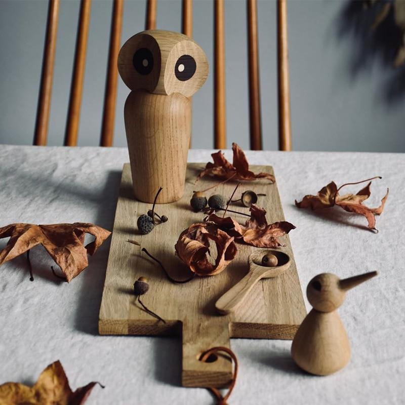 Handmade Wooden Owl Figurine
