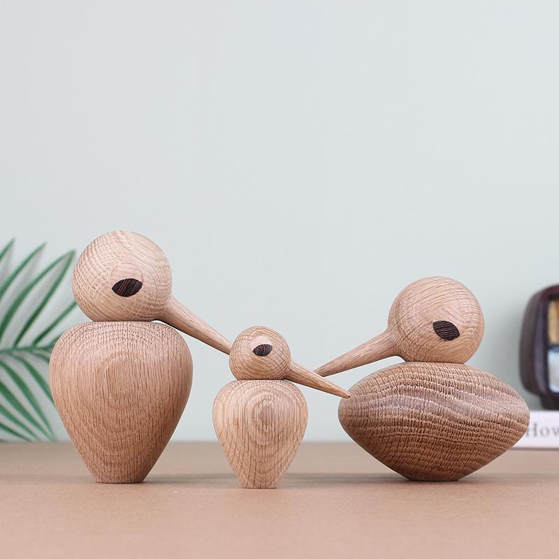 Handmade Wooden Bird Figurines
