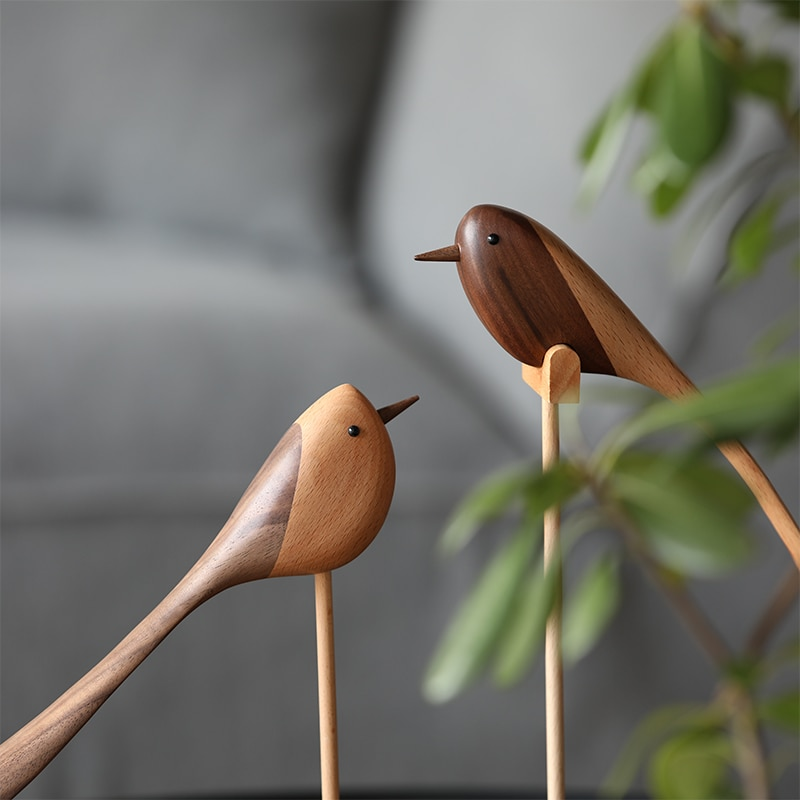 Handmade Wooden Carving Birds