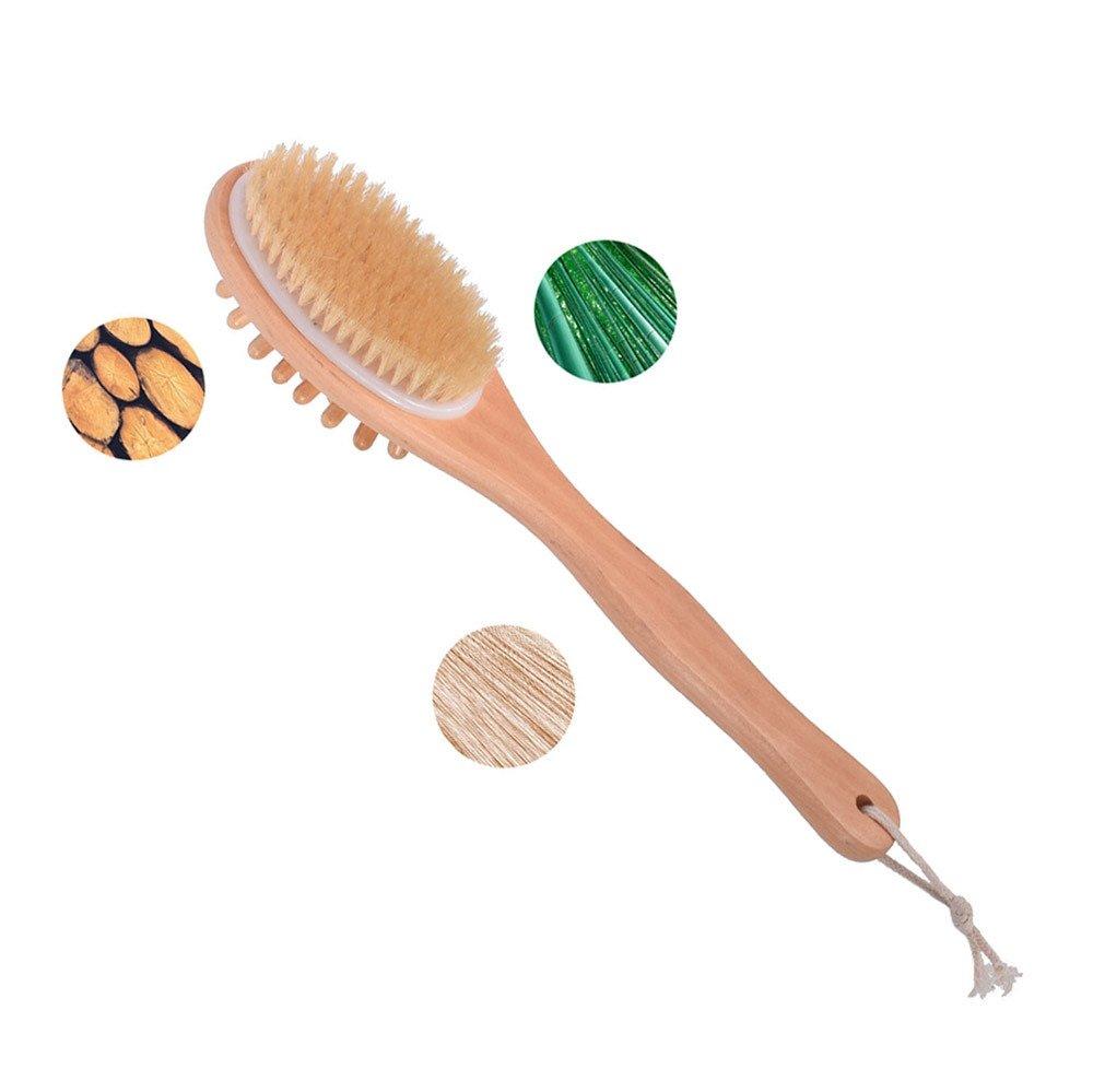 Wooden Bath Body Shower Brush for Back Scrubber