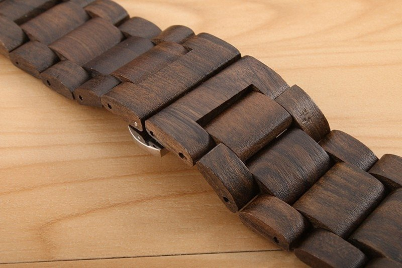 Bamboo Wood Band For Apple Watch 38mm 42mm 40mm 44mm Watchband For Apple iWatch Strap 40mm 44mm Series 1 2 3 4 5 Wooden Band