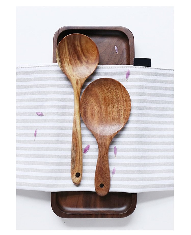 Wood Tableware Spoons Set