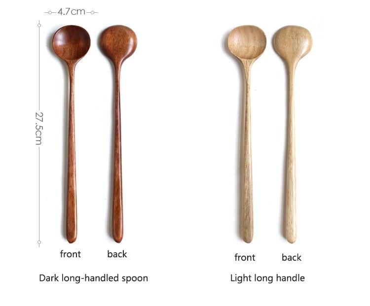 Wooden Long Handle Spoons Stir Spoon Sauce