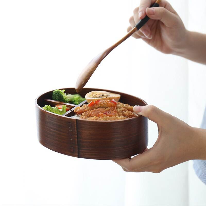 Japanese Style Wooden Lunch