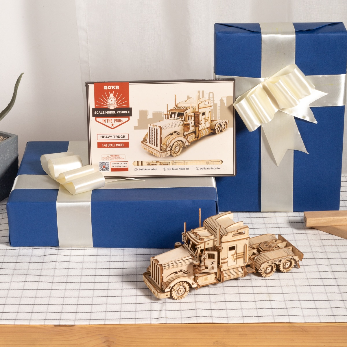 Heavy Truck Wooden Puzzle Game Assembly Toy Gift for Children Adult MC502