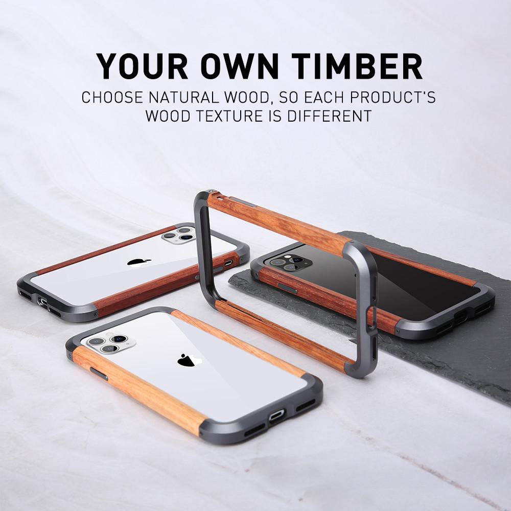 Wooden Metal Phone Case