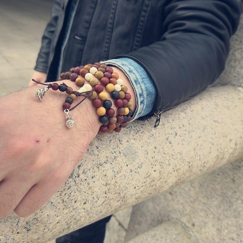 Sandalwood Prayer Beads Bracelets