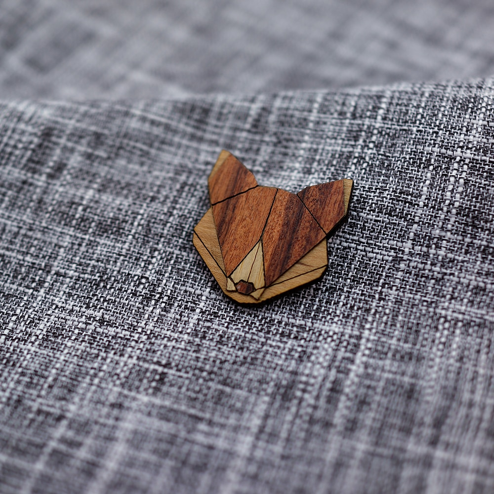 Animal Wooden Brooches Pins