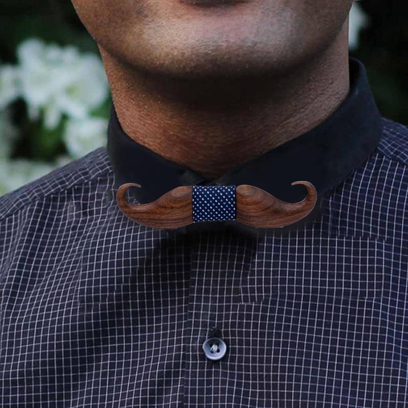 Wood Men Bow Tie